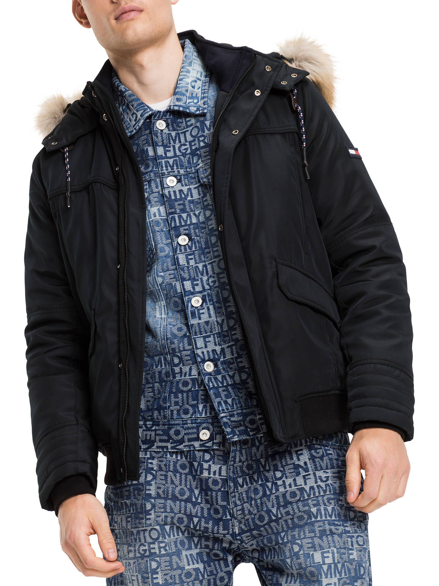 876b923ec Buy Tommy Jeans Tech Bomber Jacket, Multi/Charcoal, S Online at johnlewis.