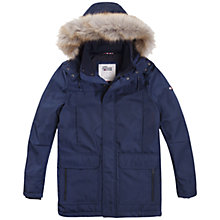 Buy Hilfiger Denim Tech Parka Jacket, Multi/Navy Online at johnlewis.com