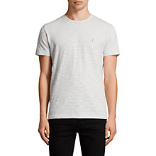 Buy AllSaints Tonic Trid Crew T-shirt, White/Storm Blue Online at johnlewis.com