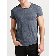 Buy Tommy Jeans Basic Crew Neck T-Shirt, Grey Online at johnlewis.com