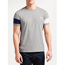 Buy Fred Perry Blocked Panel T-Shirt, Grey Online at johnlewis.com