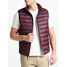 Buy Polo Ralph Lauren Lightweight Down Gilet, Autumn Wine Online at johnlewis.com