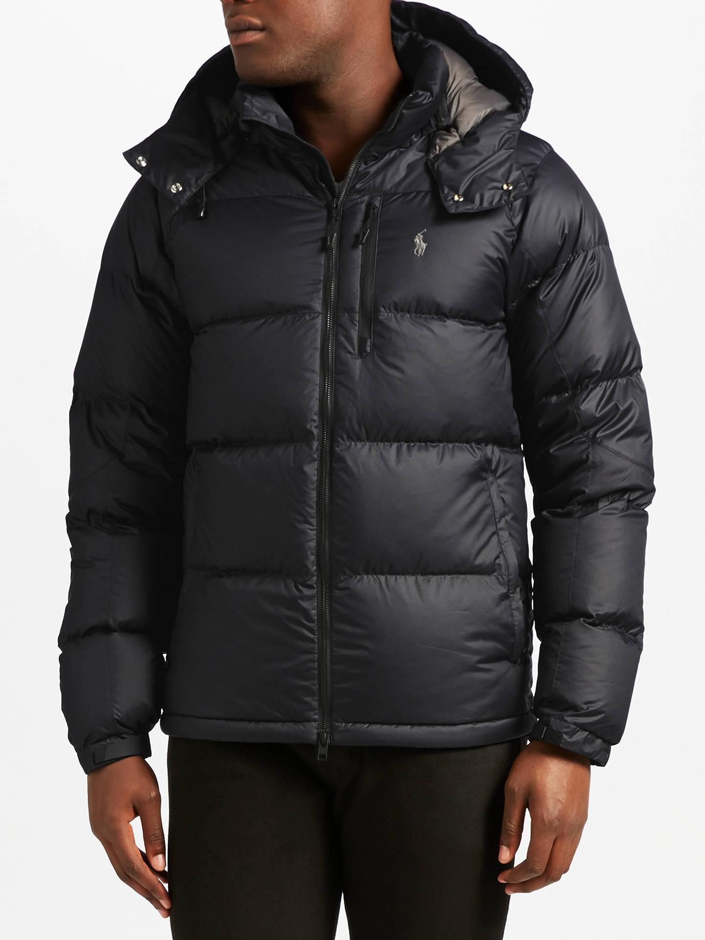 9c9594c29e2a BuyPolo Ralph Lauren Padded Jacket, Polo Black, XXL Online at johnlewis.com  ...