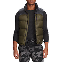 Buy Polo Ralph Lauren El Cap Fill Gilet,Polo Black/Dark Loden Online at johnlewis.com