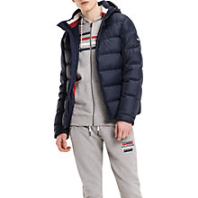 Buy Tommy Jeans Basic Down Jacket, Multi/Navy Online at johnlewis.com