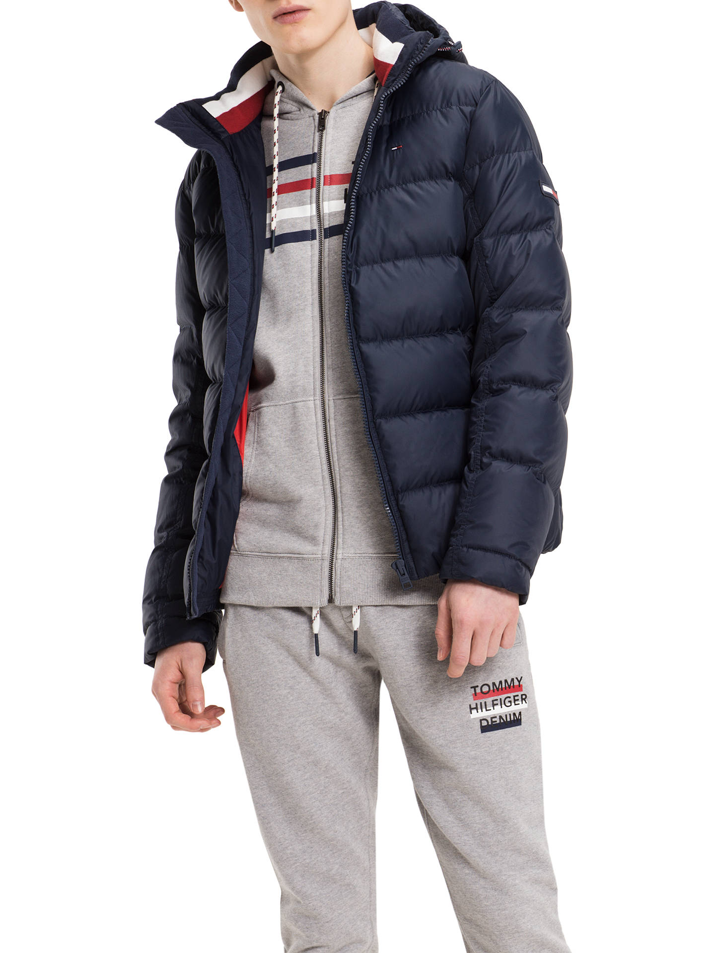 6d48713ed Buy Tommy Jeans Basic Down Jacket, Multi/Navy, S Online at johnlewis.