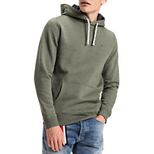 Buy Tommy Jeans Basic Hood Jersey Top, Green Online at johnlewis.com