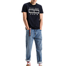 Buy Tommy Jeans Basic Crew Neck T-Shirt, Navy/Dark Blue Online at johnlewis.com