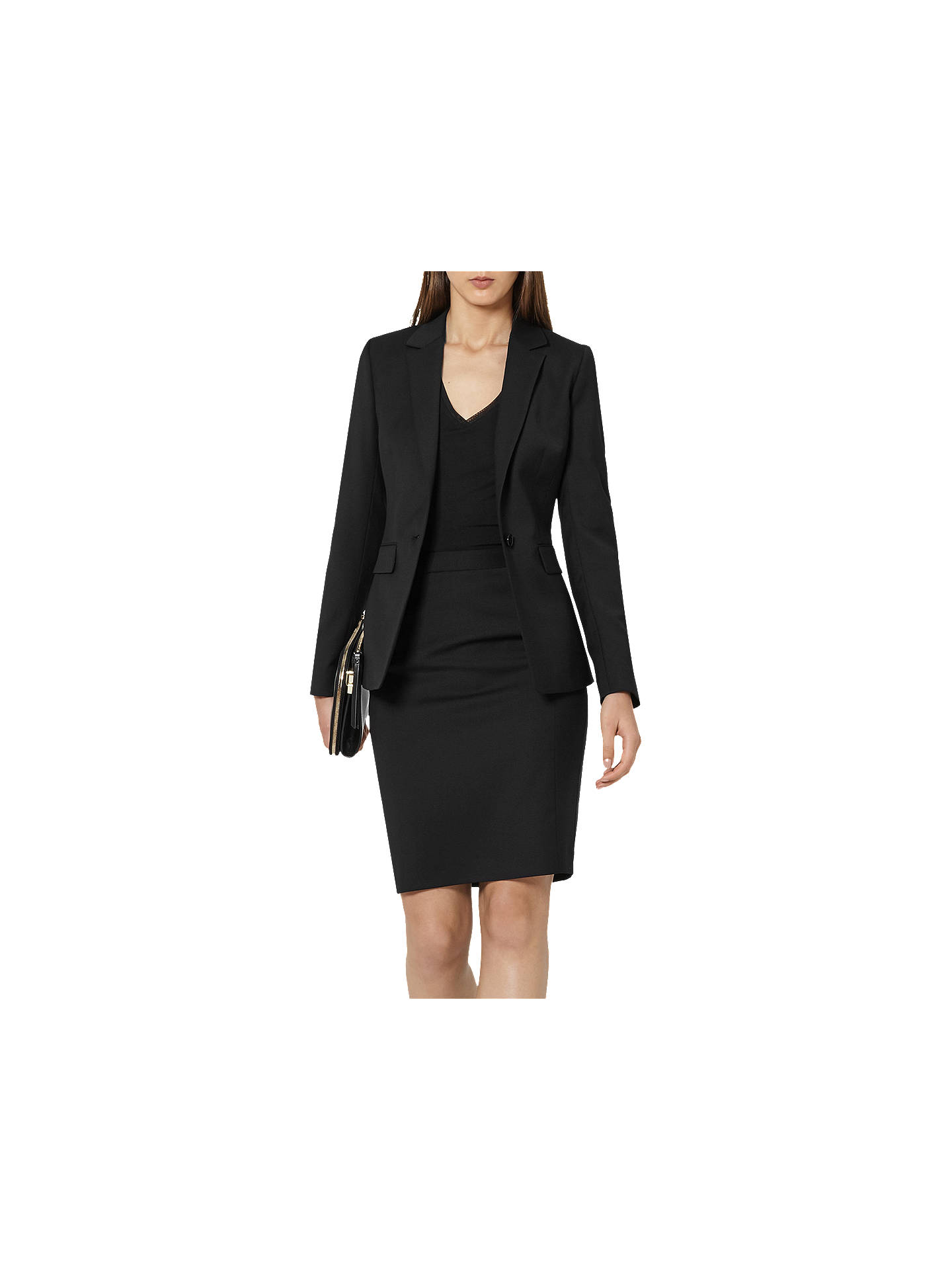 Buy Reiss Tailored Pencil Skirt, Black, 6 Online at johnlewis.com