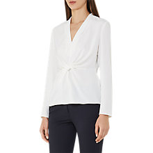 Buy Reiss Marla Twist-front Top, Off White Online at johnlewis.com