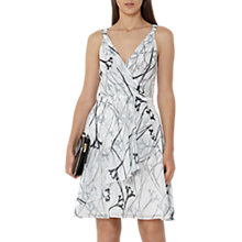 Buy Reiss Elsie Fit And Flare Dress, Black/White Online at johnlewis.com