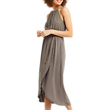 Buy Oasis Cut-Out Wrap Dress, Khaki Online at johnlewis.com