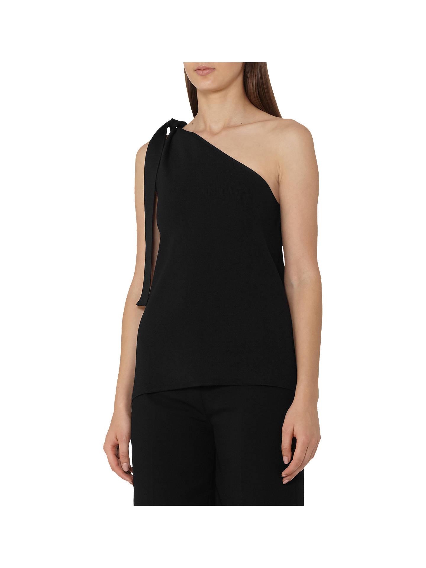 08c5371a5d511 Reiss Henrietta One-Shoulder Knitted Top at John Lewis   Partners