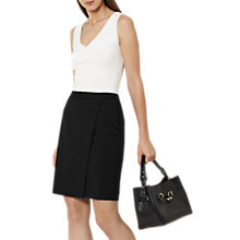 Buy Reiss Tailored Wrap Skirt, Black Online at johnlewis.com