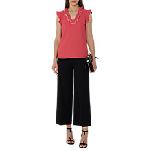Buy Reiss Overlock Sleeveless Top, Lotus Red Online at johnlewis.com
