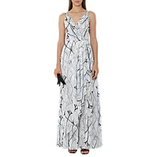 Buy Reiss Elle Printed Maxi Dress, Black/Off White Online at johnlewis.com
