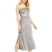 Buy Oasis Foil Marl Bandeau Dress, Gold Online at johnlewis.com