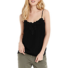 Buy Oasis Lace Trim Camisole, Black Online at johnlewis.com