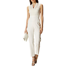 Buy Karen Millen Fluid Tailoring Jumpsuit, Ivory Online at johnlewis.com