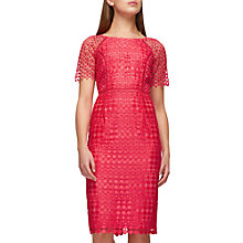 Buy Jacques Vert Lace Spot Dress, Pink Online at johnlewis.com