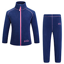 Buy Skogstad Girls' Fongen Microfleece Set, Navy Online at johnlewis.com