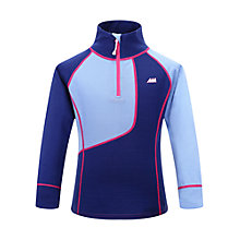 Buy Skogstad Children's Malselv Merino Zip Top, Navy Online at johnlewis.com