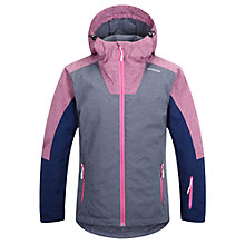 Buy Skogstag Girls' Frostisen 2L Waterproof Jacket, Grey/Pink Online at johnlewis.com