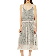 Buy Selected Femme Eden Print Mesh Dress, Creme De Peche Online at johnlewis.com