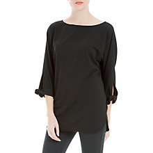 Buy Max Studio Tie Cuff Jersey Top, Black Online at johnlewis.com