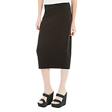 Buy Max Studio Ponte Midi Skirt, Black Online at johnlewis.com