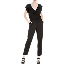 Buy Max Studio Draped Jumpsuit, Black Online at johnlewis.com
