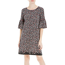 Buy Max Studio Bell Sleeve Printed Dress, Black/Berry Online at johnlewis.com