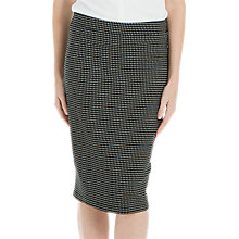 Buy Max Studio Stretch Jacquard Skirt, Black/Cream Online at johnlewis.com