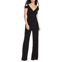 Buy Lauren Ralph Lauren Ivanka V-Neck Jumpsuit, Black Online at johnlewis.com