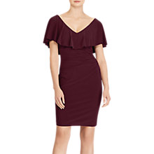 Buy Lauren Ralph Lauren Tama Ruffled Overlay Jersey Dress, Rioja Online at johnlewis.com