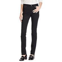 Buy Lauren Ralph Lauren Premier Straight Sateen Jeans, Polo Black Online at johnlewis.com