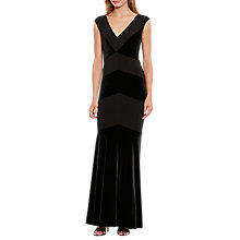 Buy Lauren Ralph Lauren Tolina Cap Sleeve Maxi Dress, Black Online at johnlewis.com