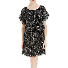 Buy Max Studio Spot Print Cold Shoulder Dress, Black/Cream Online at johnlewis.com