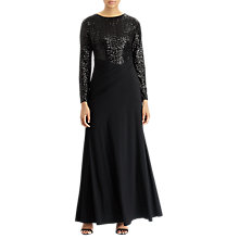 Buy Lauren Ralph Lauren Bronx Sequin Maxi Dress, Black Online at johnlewis.com