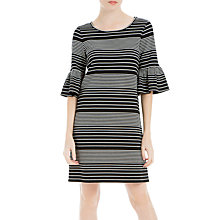 Buy Max Studio Bell Sleeve Stripe Dress, Black/Cream Online at johnlewis.com