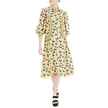 Buy Max Studio Bird Print Shirt Dress, Toast/Black Online at johnlewis.com