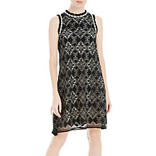 Buy Max Studio Sleeveless Corded Lace Dress, Black/Cream Online at johnlewis.com