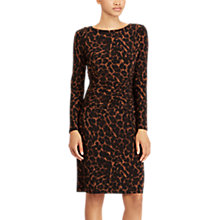 Buy Lauren Ralph Lauren Emiliano Leopard Print Dress, Brown Multi Online at johnlewis.com