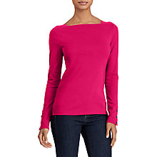 Buy Lauren Ralph Lauren Shoreleen Button-Trim Boatneck Top Online at johnlewis.com