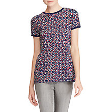 Buy Lauren Ralph Lauren Meilyr Knitted Top, Mini Geometric Multi Online at johnlewis.com
