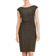 Buy Lauren Ralph Lauren Terri Metallic Knit Cutout Dress, Black/Gold Online at johnlewis.com