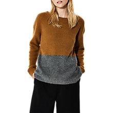 Buy Selected Femme Boat Neckline Jumper, Golden Brown Comb Online at johnlewis.com