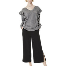 Buy Selected Femme Frilla V-Neckline Jumper, Medium Grey Melange Online at johnlewis.com