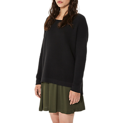 Selected Femme Laua Ribbed Jumper, Black