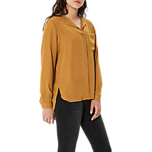 Buy Selected Femme Dynella Blouse, Golden Brown Online at johnlewis.com
